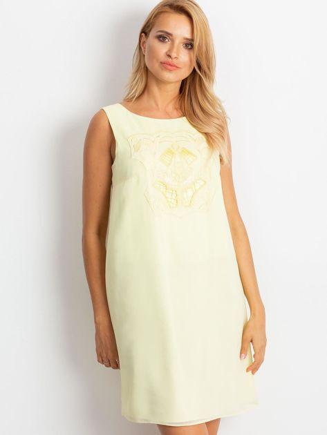 Jasnożółta sukienka Secret                              zdj.                              1