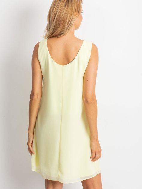 Jasnożółta sukienka Secret                              zdj.                              2