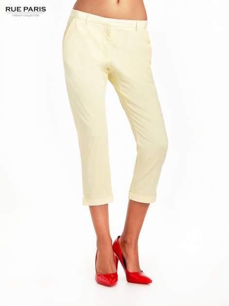 Jasnożółte spodnie cygaretki