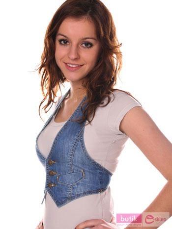 Kamizelka jeansowa                                  zdj.                                  3