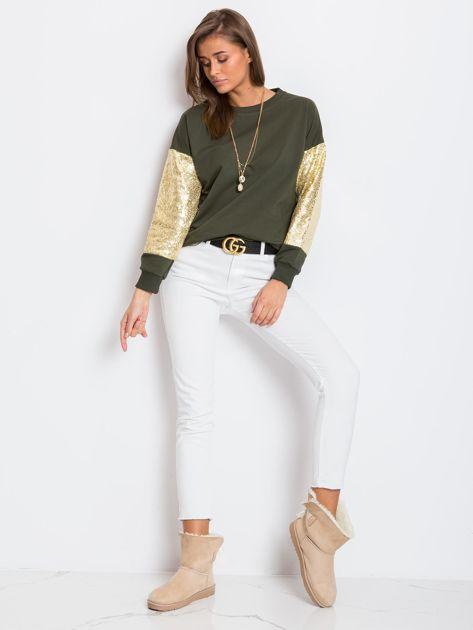 Khaki bluza Mirror                              zdj.                              4