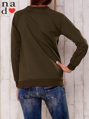 Khaki bluza z nadrukiem gwiazdy                                  zdj.                                  4