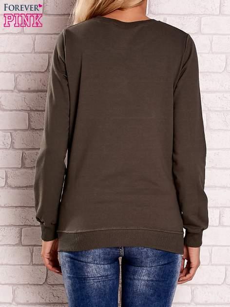Khaki bluza z nadrukiem łapacza snów                                  zdj.                                  4