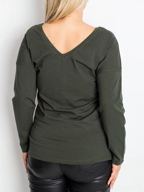 Khaki bluzka plus size Clear                              zdj.                              2