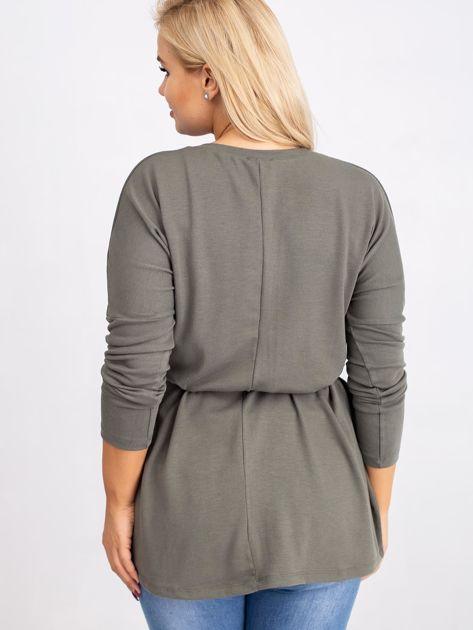 Khaki bluzka plus size Gracie                              zdj.                              2