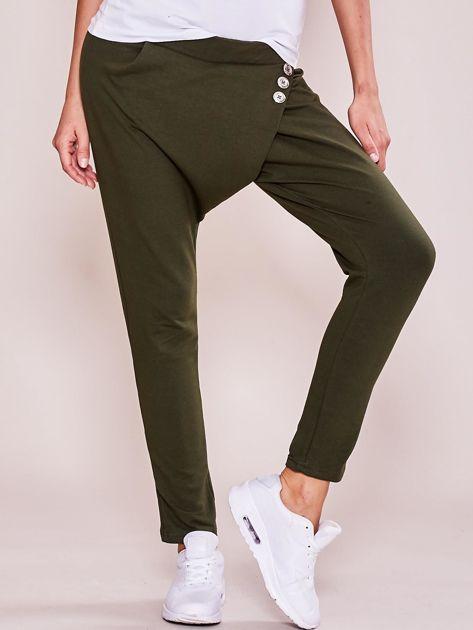 Khaki damskie spodnie dresowe moro                              zdj.                              5