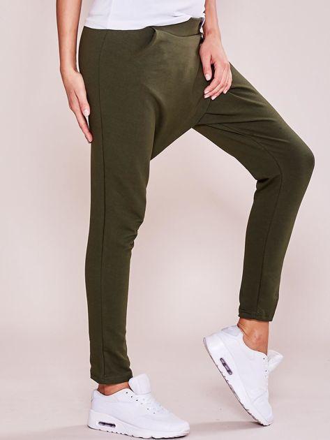 Khaki damskie spodnie dresowe moro                              zdj.                              3