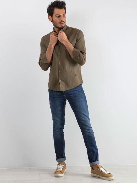 Khaki koszula męska Superior                              zdj.                              4