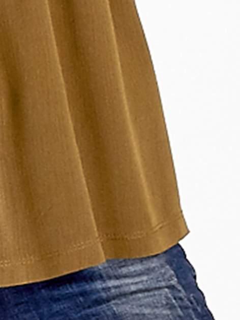 Khaki koszula z koronkową górą w stylu boho                                  zdj.                                  6