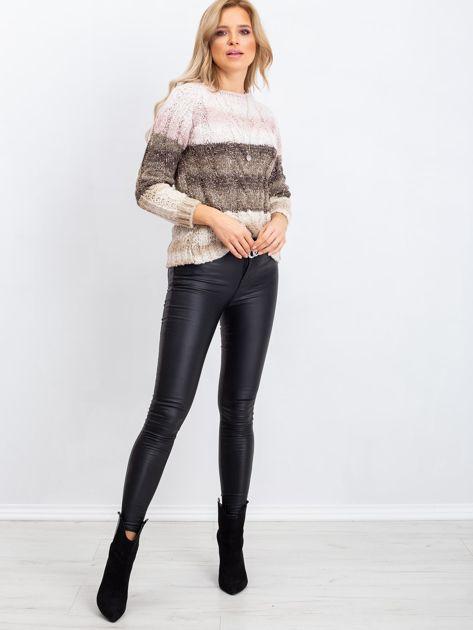 Khaki-różowy sweter Florine                              zdj.                              4