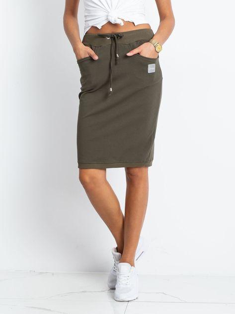 Khaki spódnica Features                              zdj.                              1
