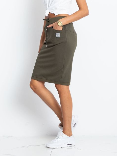 Khaki spódnica Features                              zdj.                              3