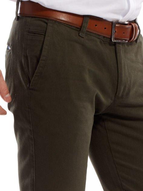 Khaki spodnie męskie chinos                              zdj.                              5