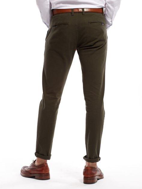 Khaki spodnie męskie chinos                              zdj.                              2