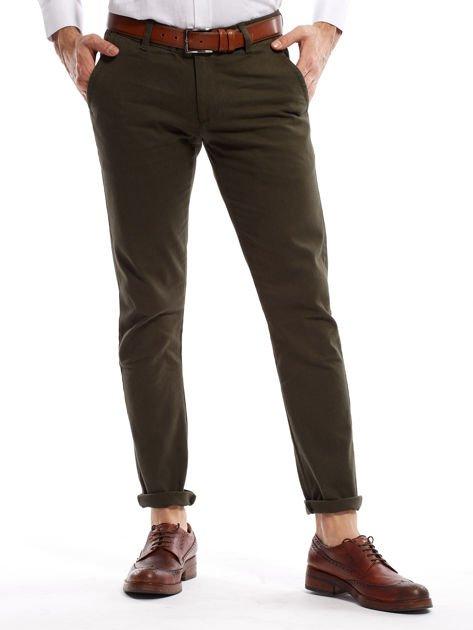 Khaki spodnie męskie chinos                              zdj.                              1
