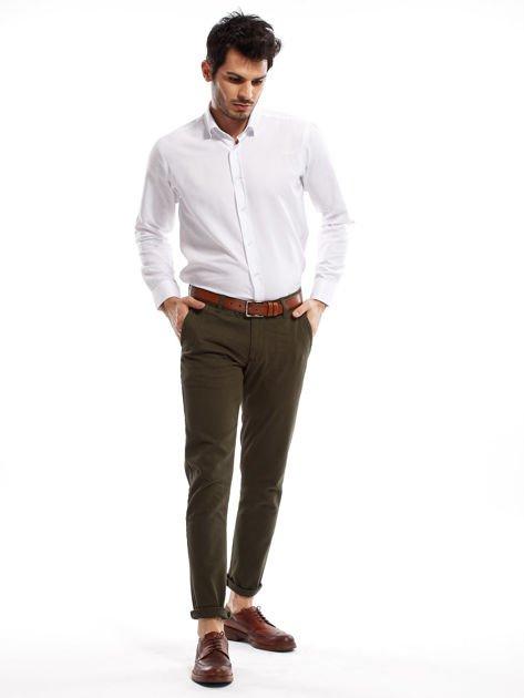 Khaki spodnie męskie chinos                              zdj.                              8
