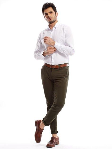 Khaki spodnie męskie chinos                              zdj.                              13
