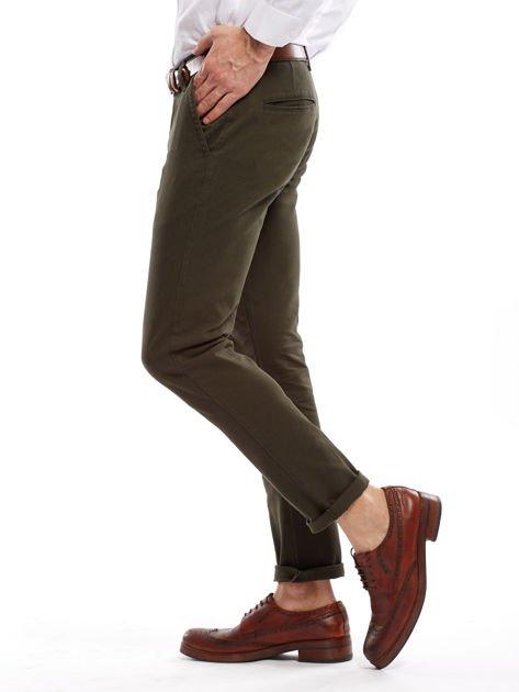Khaki spodnie męskie chinos                                  zdj.                                  3