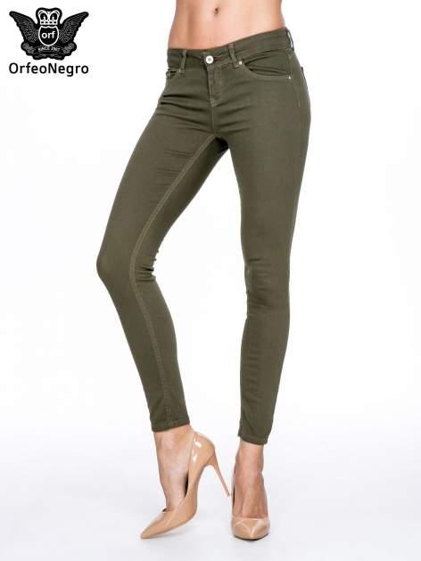 Khaki spodnie typu skinny z elastycznego materiału