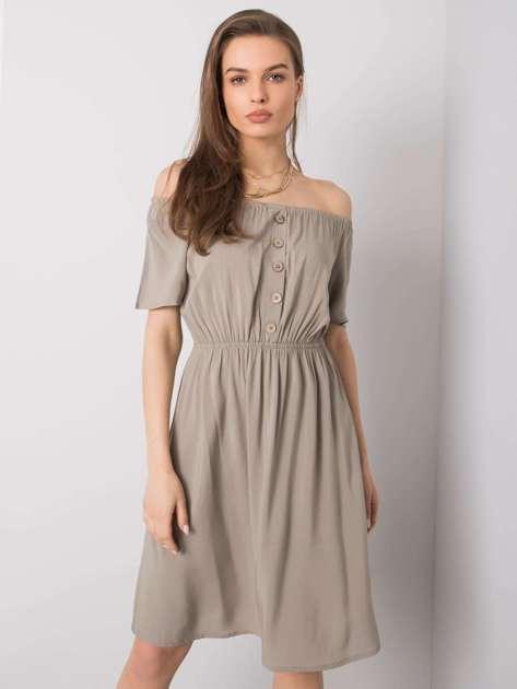 Khaki sukienka Cori SUBLEVEL
