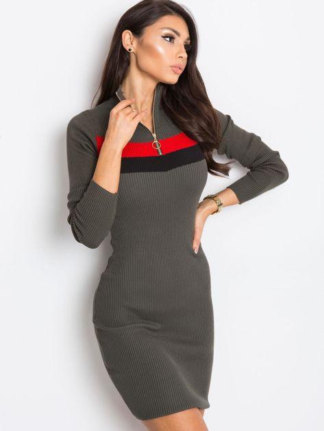 Khaki sukienka Freefall                              zdj.                              5