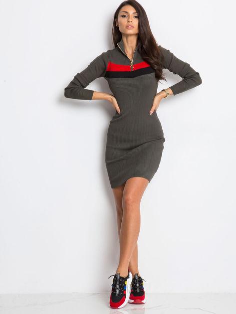 Khaki sukienka Freefall                              zdj.                              4