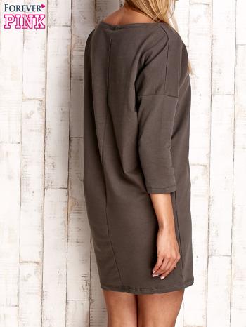 Khaki sukienka oversize                              zdj.                              4
