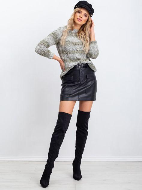 Khaki sweter Amelia                              zdj.                              4