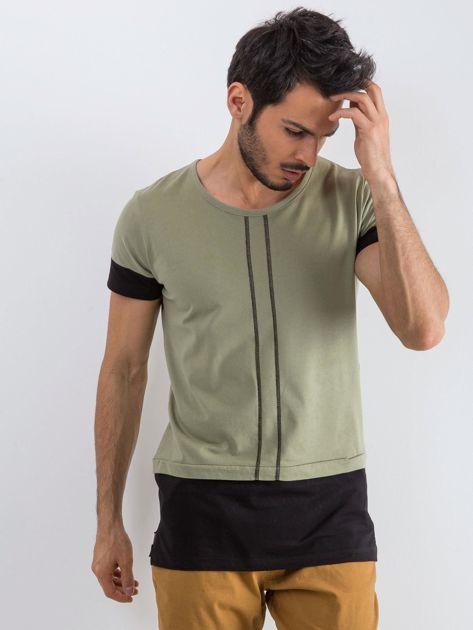 Khaki t-shirt męski Narcos                              zdj.                              1