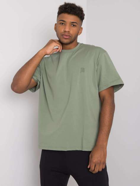 Khaki t-shirt męski bawełniany Archer LIWALI