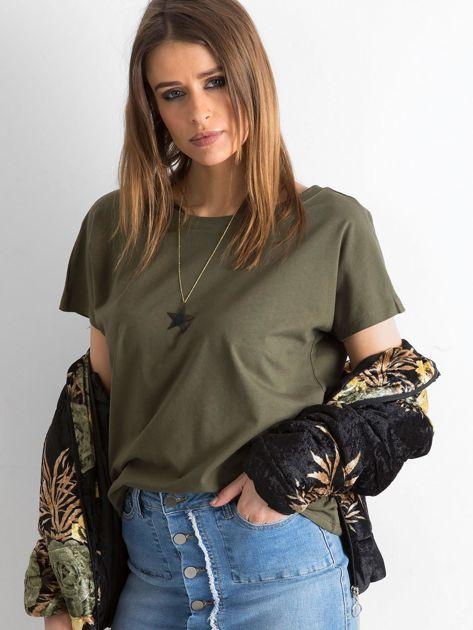 Khaki t-shirt Fire                              zdj.                              1