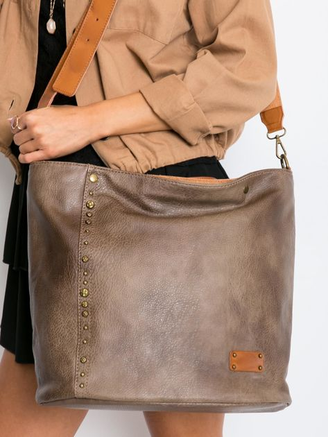 Khaki torba damska city bag                              zdj.                              2