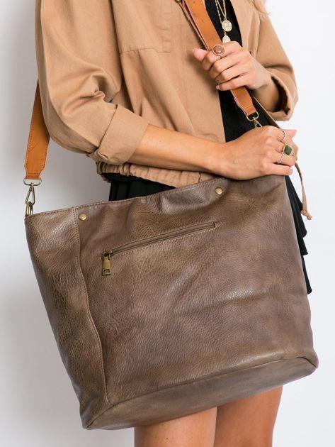 Khaki torba damska city bag                              zdj.                              5