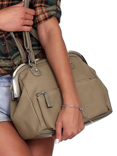 Khaki torba damska vintage                              zdj.                              3