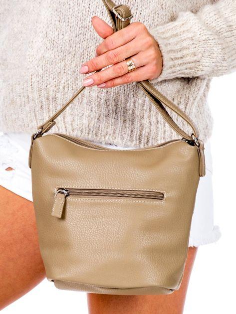 Khaki torba listonoszka z kieszeniami                               zdj.                              4