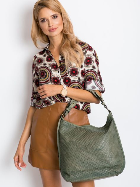 Khaki torba miejska na ramię