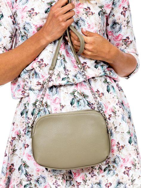 Khaki torba z dzielonymi komorami                              zdj.                              5