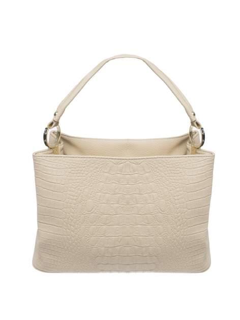 Khaki torebka na ramię tłoczona na wzór skóry krokodyla                                  zdj.                                  1