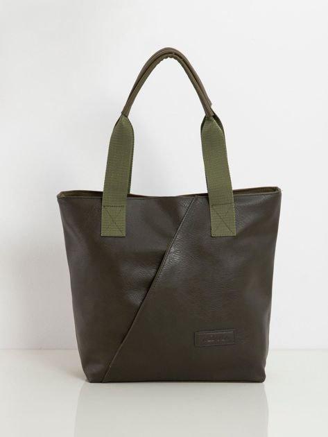 Khaki-zielona torba z ekoskóry
