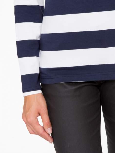 Klasyczna bluzka w biało-granatowe pasy                                  zdj.                                  7
