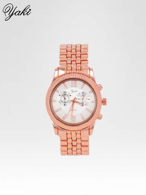 Klasyczny zegarek damski na bransolecie w kolorze różowego złota
