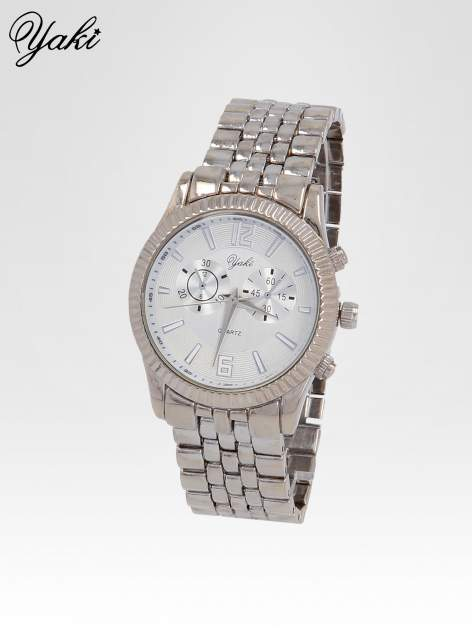 Klasyczny zegarek damski na bransolecie w kolorze srebra                                  zdj.                                  2
