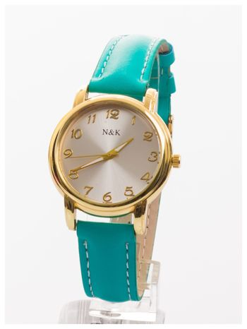 Klasyka gatunku. Damski elegancki zegarek na skórzanym pasku.