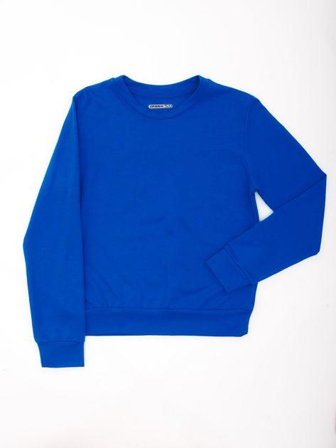 Kobaltowa bluza młodzieżowa                              zdj.                              1