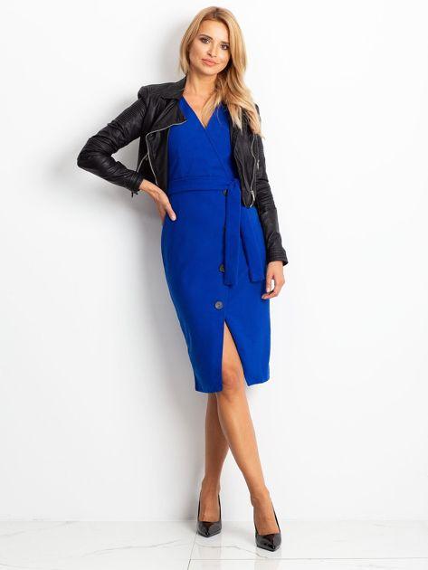 Kobaltowa sukienka Future                              zdj.                              4