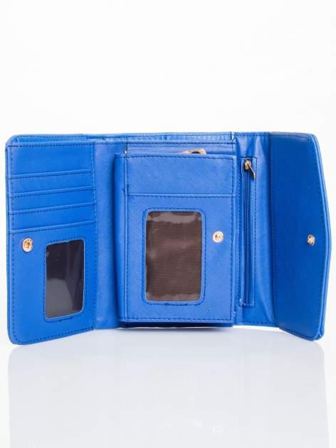 Kobaltowy portfel z plecionką                                  zdj.                                  3