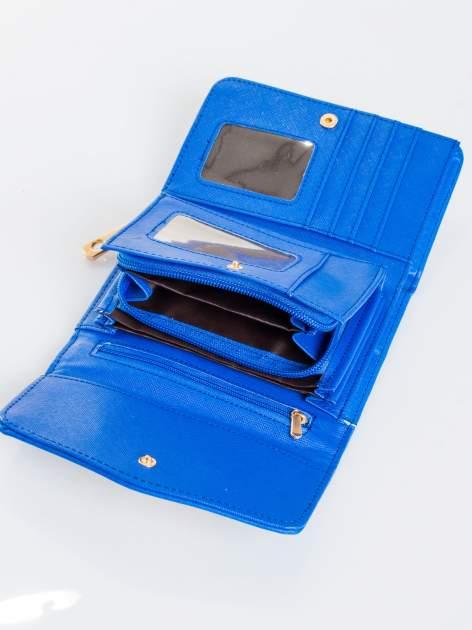 Kobaltowy portfel z plecionką                                  zdj.                                  4