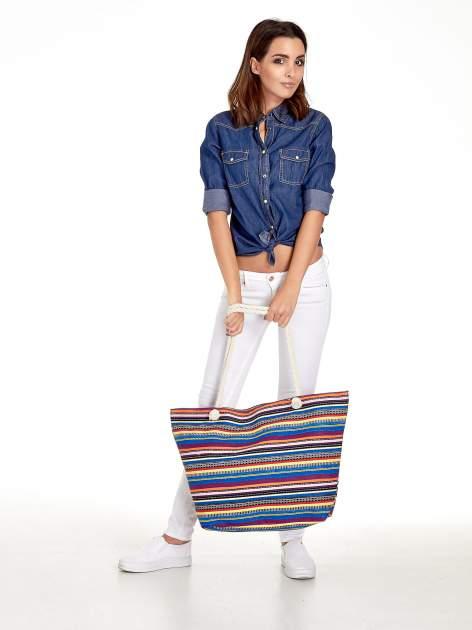 Kolorowa torba plażowa w paski                                  zdj.                                  11