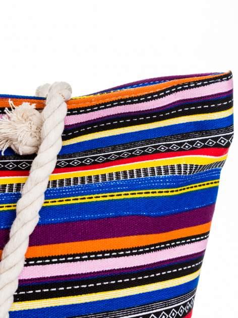 Kolorowa torba plażowa w paski                                  zdj.                                  8