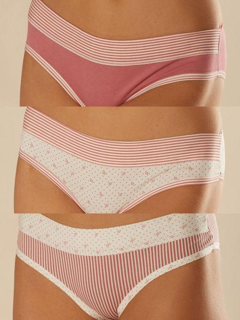 Komplet bawełnianych majtek damskich 3-pak                              zdj.                              1